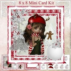 Reindeer Girl by Mandy Kirby This kit includes: 8 x 8 Topper and two gift tags Insert and decoupage sheets: includes six sentiment baubles… Christmas Countdown, Christmas Cards, Card Kit, Diy Cards, Reindeer, Gift Tags, Decoupage, Card Making, Merry