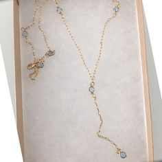 Reflection Pools Lariat Necklace by Long Lost Jewelry