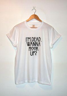 American Horror Story Inspired 'I'm Dead. Wanna Hook Up?' T-Shirt *Original* on Etsy