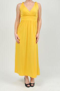 Banded Canary Dress by Found It!!! www.shopmapel.com