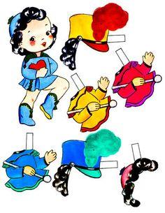 school band girl paper doll digital by DigitalGraphicsShop on Etsy