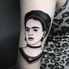 Frida Kahlo Tattoo by laracailletattoo