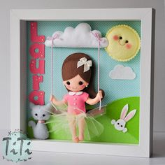 Baby Decorative Frame Child Frame Decoration with girl