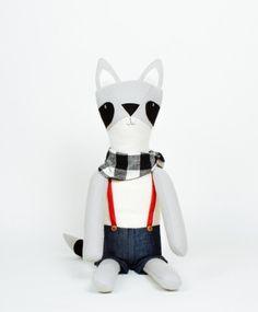 Chester the Raccoon - Walnut Animal Society - Stuffed Animals Handmade in the USA