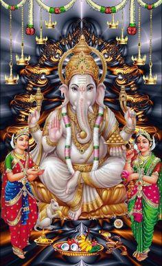 Galaxy Wallpaper, Hd Wallpaper, Lord Murugan Wallpapers, Mythological Characters, Ganesh Wallpaper, Ganesha Pictures, Shree Ganesh, Ganesha Painting, Devotional Quotes