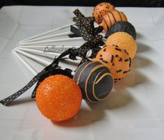 Cake Pops: Halloween Cake Pops Made to Order with High Quality Ingredients