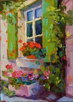 """""""Green Shutters""""by Maryanne Jacobsen"""