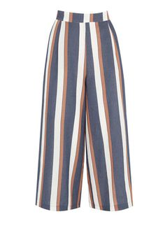 Warehouse, Stripe Culottes Blue Stripe 0
