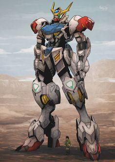 Gundam Barbatos Lupus by cirenk Sci Fi Anime, Mecha Anime, Anime Art, Arte Gundam, Gundam Wing, Gundam Wallpapers, Animes Wallpapers, Gundam Bael, Barbatos Lupus