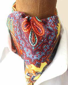 KrawattenschalPaisleyfarbenfrohAscotkrawatte von pinkmagnolia2303
