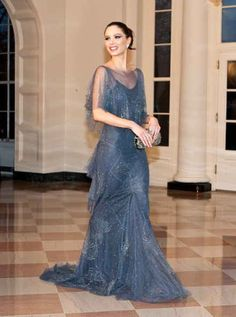 Last night the White House threw a state dinner to honor its Brit guests, UK prime minister David Cameron and his wife, Samantha.  Also in attendanc