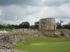 Mayapan is a Pre-Columbian Maya site a couple of kilometers south of the town of Telchaquillo in the state of Yucatán, Mexico. Mayapan was the political and cultural capital of the Maya in the Yucatán Peninsula during the Late Post-Classic period from the 1220s until the 1440s.