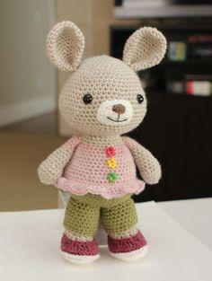 (4) Nombre: 'Ganchillo: Amigurumi Patrón - Rosie del conejo de conejito