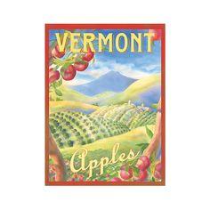 Vermont Apples Travel Poster