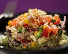 Anote a receita do chef Kenji Shiroma dessa salada de quinoa com suco de limão e pimenta dedo-de-moça