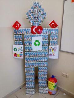 Süt kutularından robot