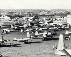 Captured Aircraft Park, Farnborough 1945