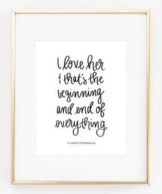 Look what I found on #zulily! F. Scott Fitzgerald 'The Beginning and End of Everything' Print #zulilyfinds
