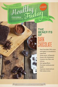 Healthy Food Friday: The Health Benefits of Dark Chocolate @American Express #spon