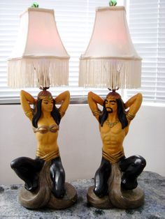 Vintage Kitsch Lamps
