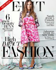 Print Parade: Sarah Jessica Parker is this week's Net-a-Porter The Edit cover in Mary Katrantzou
