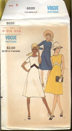 Vintage Vogue 1960 s Empire Waist Sewing Pattern by SewJoe on Etsy, $22.00