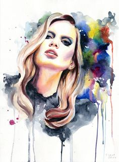 saturday night diva by cora tiana - Watercolor Paintings by Cora and Tiana  <3 <3