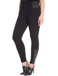 wide leg cropped side pleat pant | women's plus size pants