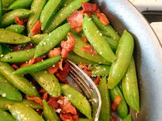 Recipe: Gluten-Free Snack: Snap Peas and Bacon