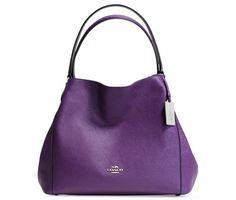 Coach Edie 31 Shoulder Bag In Crossgrain Leather (Silver/Violet)