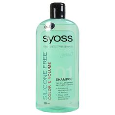 syoss shampooing 500 ml couleur+volume