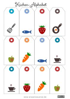 FREE printable tags with kitchen icons