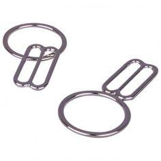 240 Pieces Swimsuit Bra Hooks Bra Strap Hooks Bra Strap Slide Replacement Bra Strap Slider Nylon Bra Strap Rings for Swimsuit Tops and Lingerie 3 Styles 2 Sizes