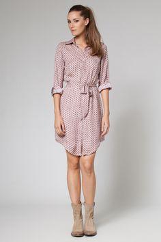 Vestido tipo camisa de la colección otoño/invierno 2013 de Poète