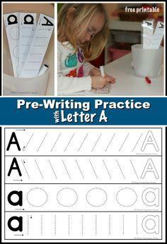 Preschool Prewriting Practice Letter A Worksheet