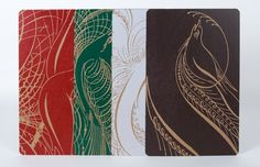 CALLIGRAPHY BIRDS Set of 4 A10 Prints With Kraft by PioneerHouse