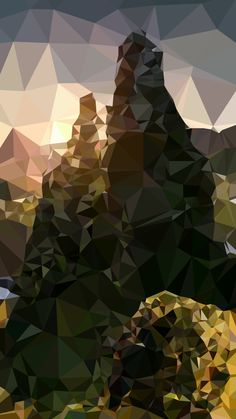 Tap image for more iPhone 6 Wallpapers! Abstract nature polygon - @mobile9
