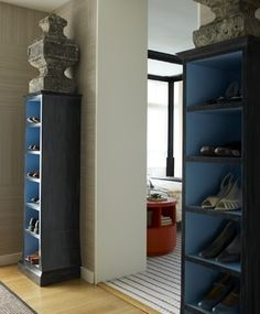 great way to display shoes!