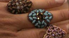 "tutorial anello ""Soraya"" con superduo, via YouTube."
