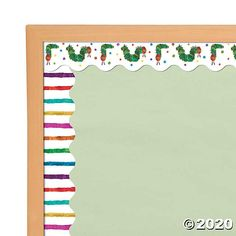 A classic addition to classroom supplies, this fun bulletin board border features The Very Hungry Caterpillar™ on one side and colorful stripes on the ...