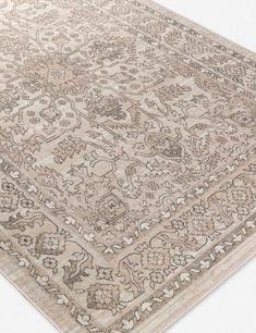 In a neutral palette, this intricately patterned rug is the perfect addition to living rooms and dining rooms. The transitional motifs and bordered design are the perfect centerpiece for your favorite table or seating arrangement. Room Rugs, Area Rugs, Visual Texture, Neutral Palette, Mold And Mildew, French Art, Pantone Color, Unique Art, Decorating Tips