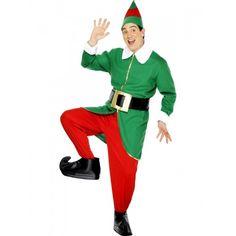 Christmas Fancy Dress Men's Elf Costume 30741