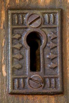 door - key hole.