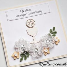 Quilling Paper Craft, Quilling Cards, Easter Crafts, Crafts For Kids, Quilling Birthday Cards, Quilling Designs, First Holy Communion, Card Making, Greeting Cards