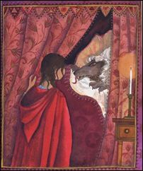 """""""Grandmother, what big ears you have!"""" """"All the better to hear with, my child.""""  Jane Ray - Red Riding Hood"""