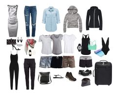 What to wear in Canada. Travel fashion. Summer capsule wardrobe for trip to the Canadian Rockies and Vancouver. Most of the time will be spent outdoors but I'm attending a wedding in Vancouver so need some dressy outfits too. This should have me covered.