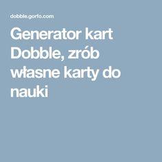 Generator kart Dobble, zrób własne karty do nauki