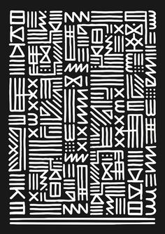 Art Monkey - monochrome tribal by kate moross Motifs Textiles, Textile Patterns, Color Patterns, Print Patterns, Tribal Print Pattern, Geometric Patterns, African Design, African Art, Ethnic Design