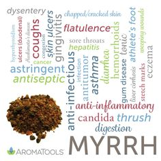 Myrrh essential oil is steam-distilled from the gum/resin of the Commiphora myrrha tree. Historically, myrrh has been used as an incense in religious rituals, in embalming, and to help with cancer,…