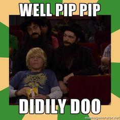 "Best Drake & Josh episode ever.... Makes me nostalgic for my childhood. ""Pip pip da doodly doo!"""